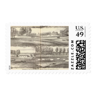 Portion of property owned by George A Hance Postage