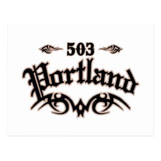 Portland 503 postcard
