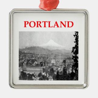Portland Adorno Navideño Cuadrado De Metal