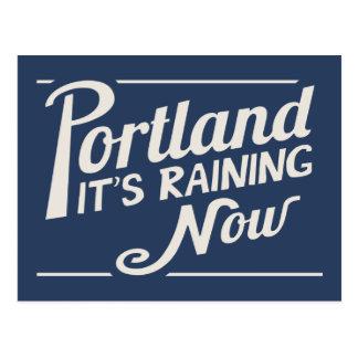Portland-ahora está lloviendo tarjetas postales