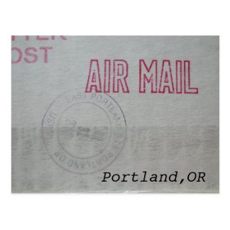 Portland Air Mail Postcard