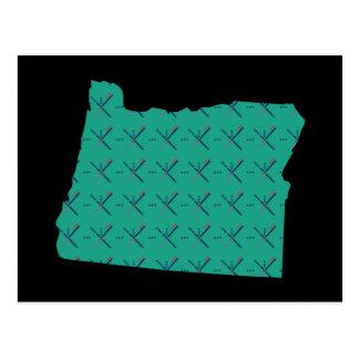 Portland Airport carpet Oregon map Postcard