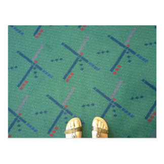 Portland airport carpet postcard