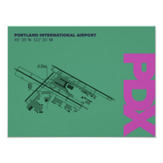 Portland Airport (PDX) Diagram Poster
