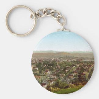 Portland and Mount Hood Oregon Keychain