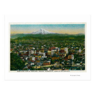 Portland and Mt Hood in the distance Post Cards