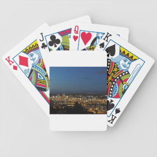 Portland at Dusk Bicycle Playing Cards