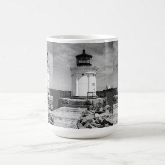 Portland Breakwater Lighthouse Classic White Coffee Mug