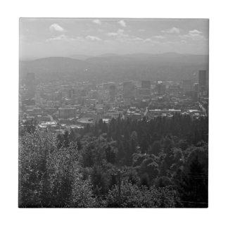 Portland céntrica blanco y negro azulejo cuadrado pequeño