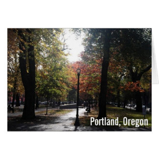 Portland céntrica, fuente de alimentación tarjeta de felicitación