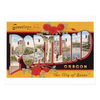 Portland: City of Roses Postcard