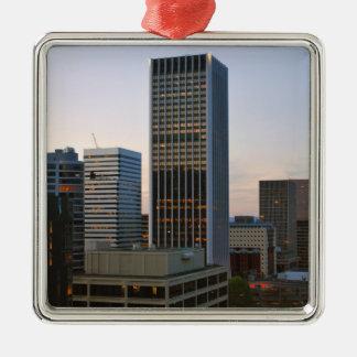 Portland City Skyline at Dusk Metal Ornament
