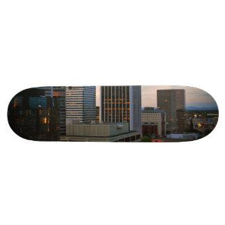 Portland City Skyline at Dusk Custom Skateboard
