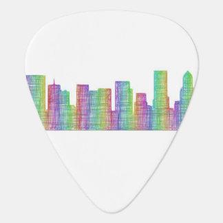 Portland city skyline guitar pick