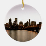 Portland Cityscape Double-Sided Ceramic Round Christmas Ornament