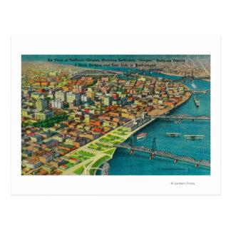 Portland del aire que muestra los puentes y postal