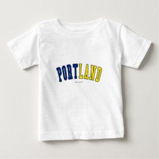 Portland en colores de la bandera del estado de playera de bebé