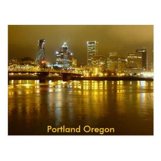 Portland en la noche tarjetas postales