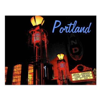 Portland en la postal de la noche