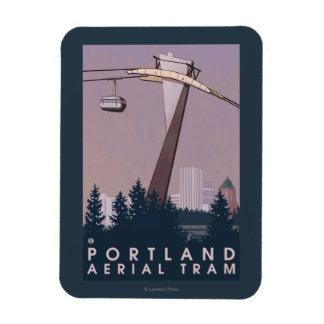 Portland, escena de la tranvía de OregonAerial Imanes De Vinilo