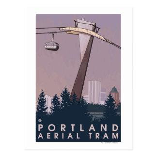 Portland, escena de la tranvía de OregonAerial Tarjeta Postal