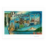 Portland, escenas 2 de la letra de OregonLarge Tarjeta Postal