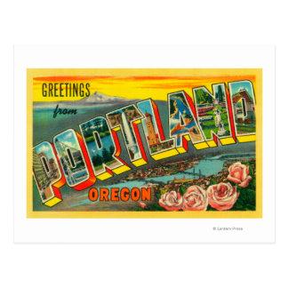 Portland escenas de la letra de OregonLarge Postales