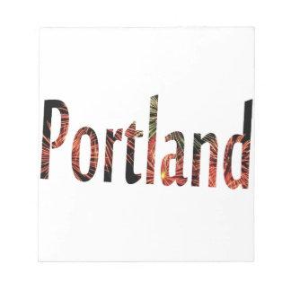 Portland Firework Notepad