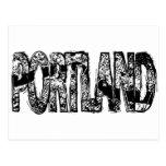 Portland Grunge Map Post Cards