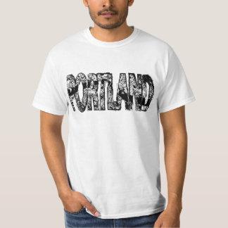 Portland Grunge Map T-Shirt