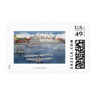 Portland Harbor View of the Public Market Postage Stamp