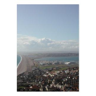 Portland Harbour. Dorset, UK. Business Card Template