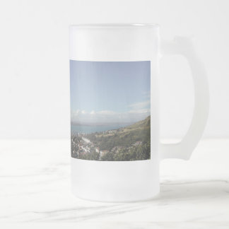 Portland Harbour. Dorset, UK. Frosted Glass Beer Mug