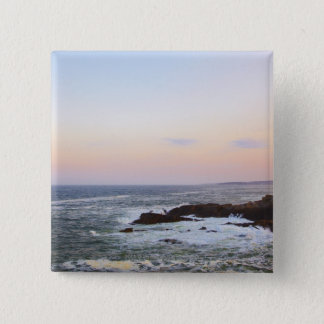 Portland Head and view to Atlantic Ocean Pinback Button
