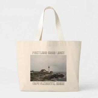 Portland Head Light 2 Large Tote Bag