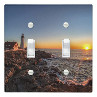 Portland Head Light at Dawn Light Switch Cover