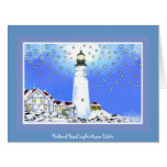 Portland Head Light Christmas #14 Card