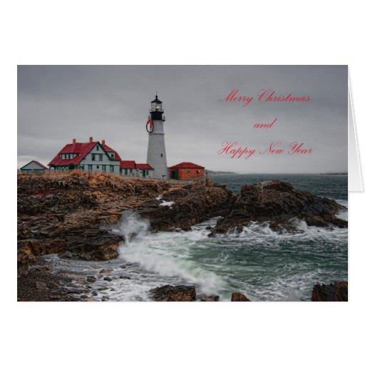 Portland Head Light @ Christmas Card