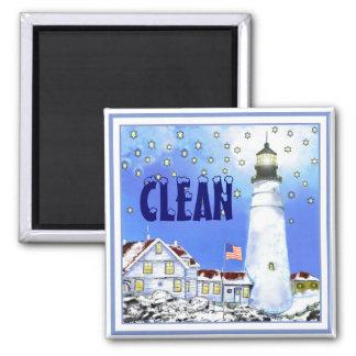 Portland Head Light Dishwasher Magnet CLEAN #1