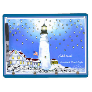 Portland Head Light Dry Erase Board add your text
