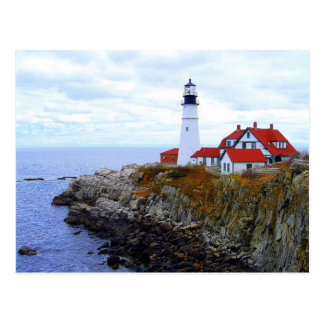 Portland Head Light House, Maine, Postcard