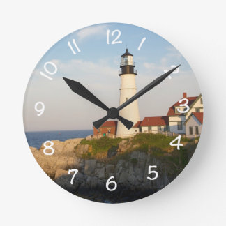 Portland Head Light House Round Clock