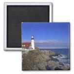 Portland Head Light Lighthouse Maine 2 Inch Square Magnet