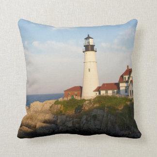 Portland Head Light Lighthouse Throw Pillows
