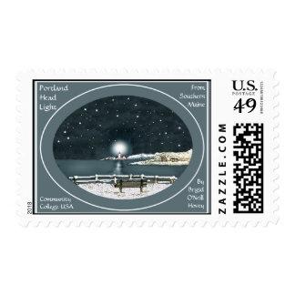 """Portland Head Light, Maine, from SMCC"" Bonhovey Postage Stamp"