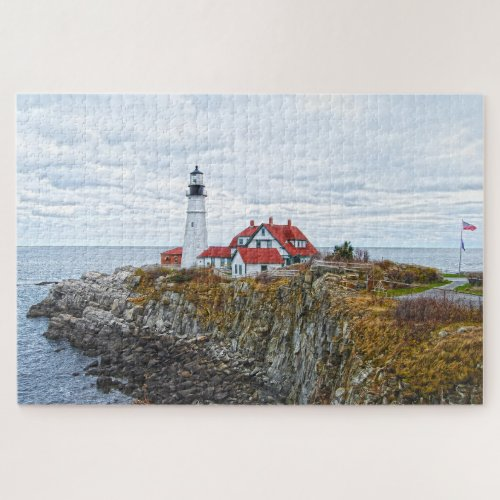 Portland Head Light, Maine Jigsaw Puzzle