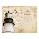 Portland Head Light measured drawings and plans Post Cards