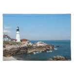 Portland Head Light ovelooking Casco Bay Cloth Placemat