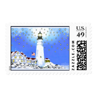 Portland Head Light Postage #3. 20 Stamps Per Page