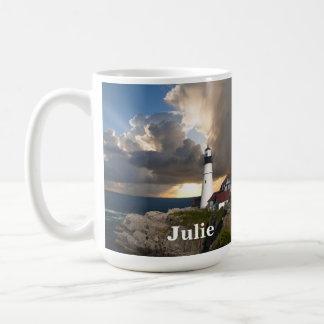 Portland Head Lighthouse and Sunset Mug
